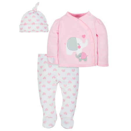 Organic Cotton Take-Me-Home Set, 3-piece (Baby Girls)