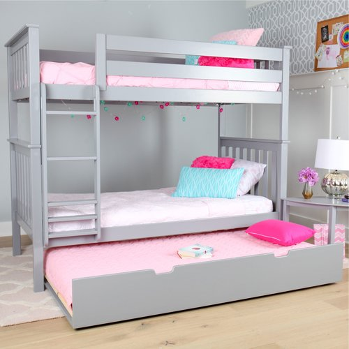 Harriet Bee Walters Twin over Twin Bunk Bed with Trundle