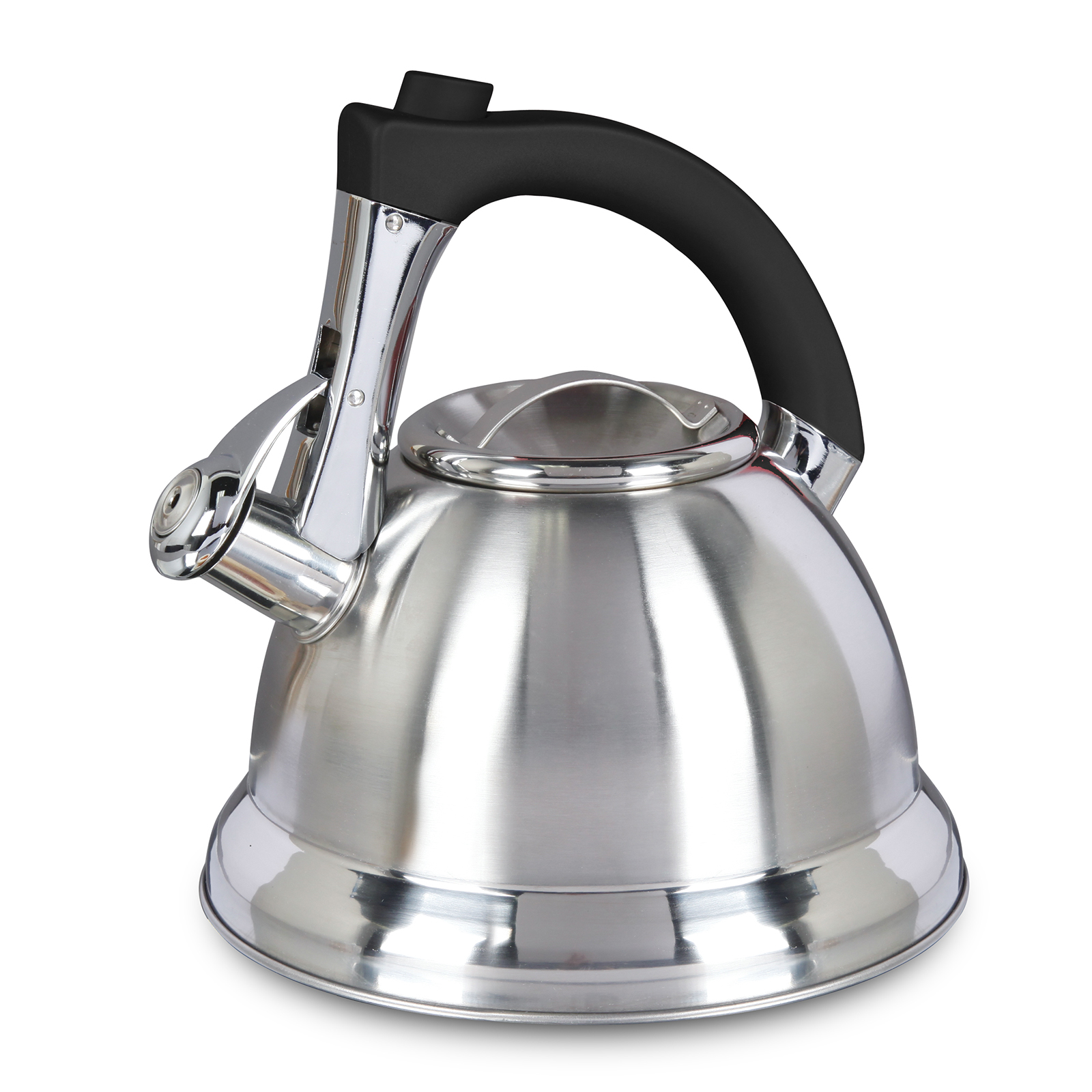 Mr. Coffee Collinsbrook 2.4 Qt Whistling Tea Kettle, Silver/Black