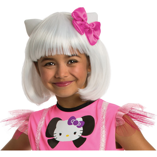 Rubies Hello Kitty White Bob Wig Child Halloween Accessory