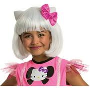 Rubies Hello Kitty White Bob Wig Child Halloween Costume Accessory