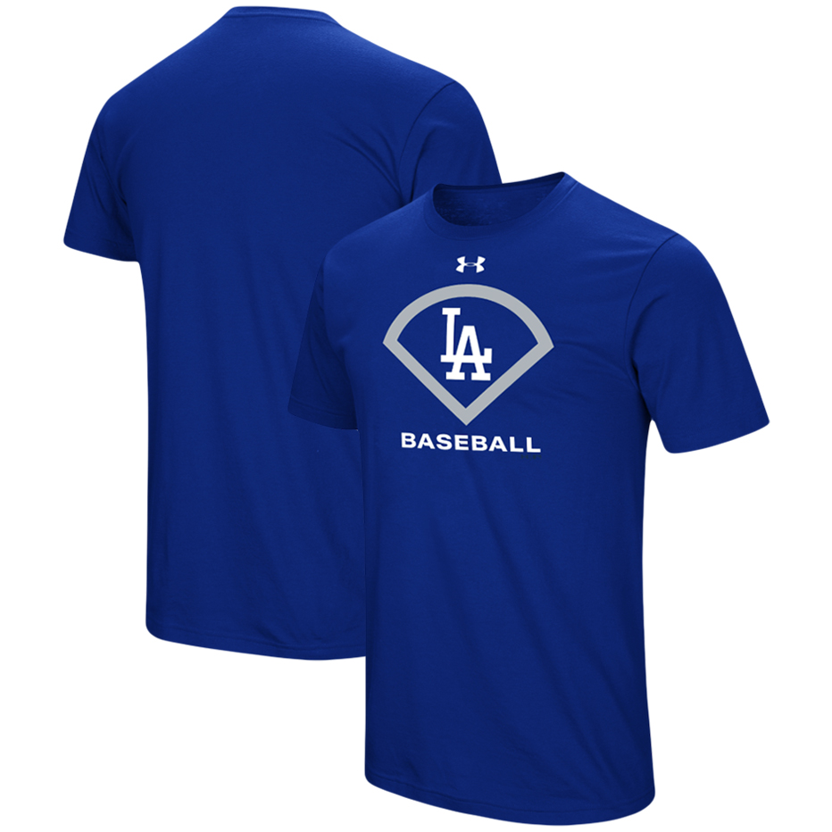 Los Angeles Dodgers Under Armour Performance Icon T-Shirt - Royal