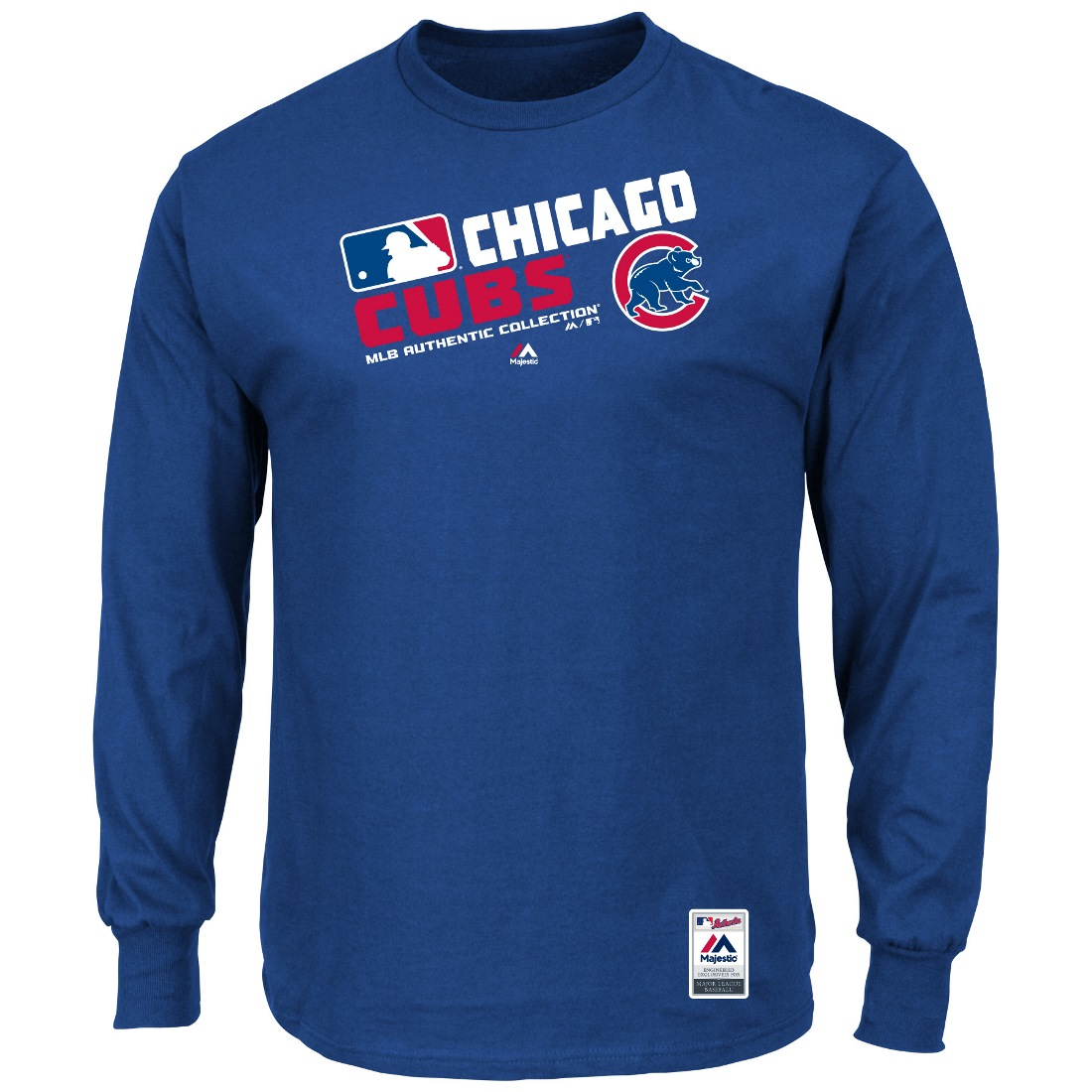 "Chicago Cubs Majestic MLB Authentic ""Team Choice"" On-Field L/S T-Shirt"