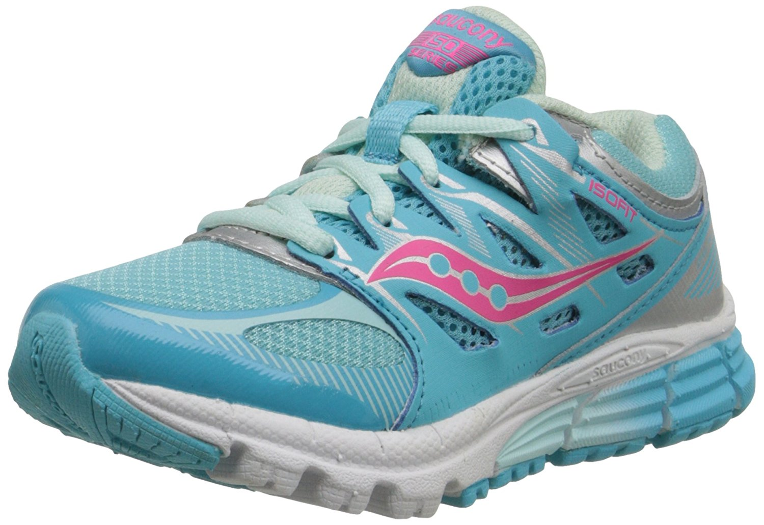 Saucony Kids Zealot Running Sneaker, 6.5 M US, Turquoise Silver by