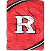 Rutgers Scarlet Kights NCAA Force Series Raschel 60x80 Twin Size Throw Blanket