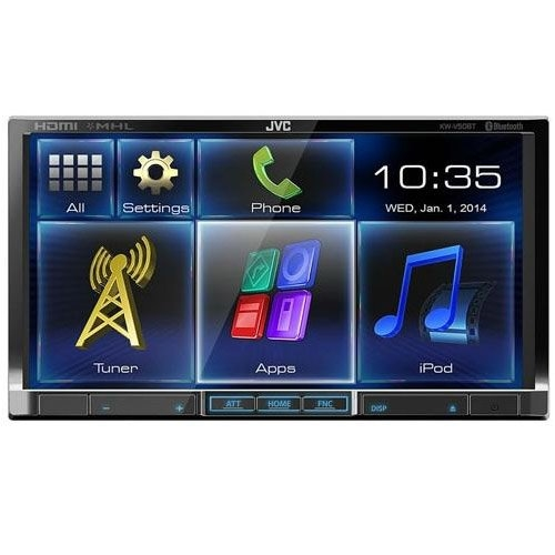 JVC KWV50BT 7-Inch LCD Detachable In-Dash Receiver with Bluetooth