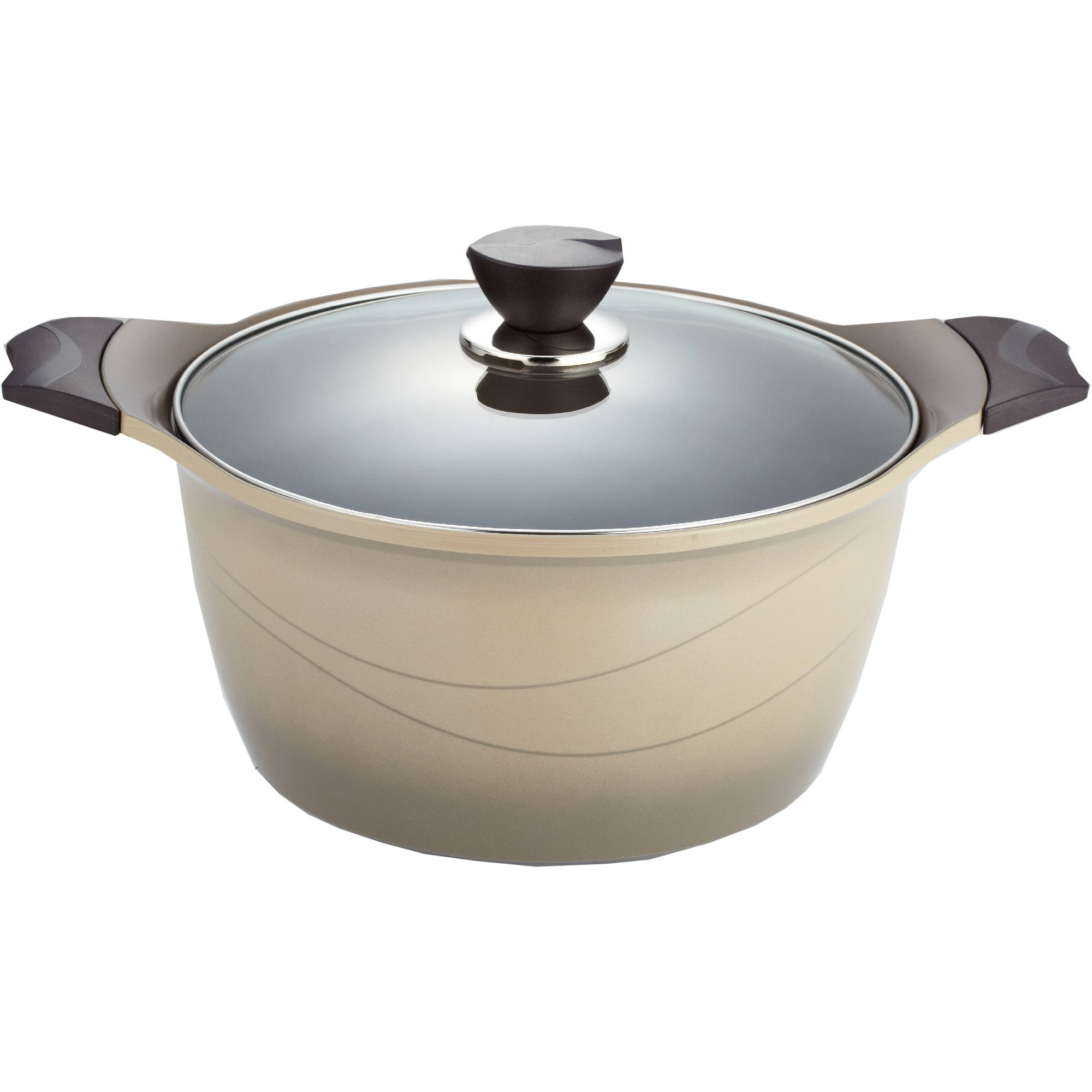 Della Ceramic Coated Non Stick Premium Cookware 5 6 Quart