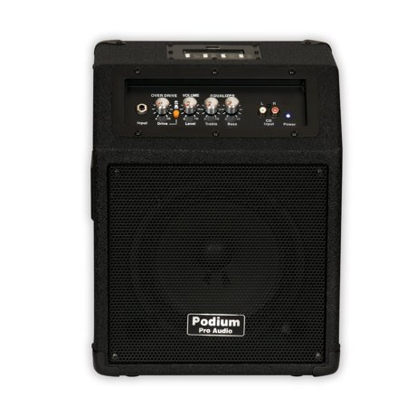 podium pro ppm8 battery powered guitar amp speaker with mp3 player. Black Bedroom Furniture Sets. Home Design Ideas