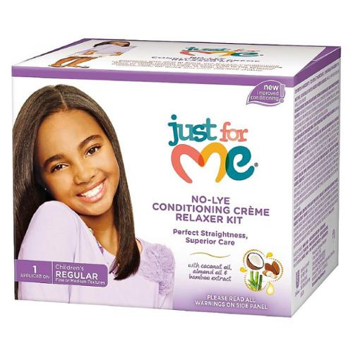 Just For Me No-Lye Regular Conditioning Creme Relaxer Kit 1 ea (Pack of 3)