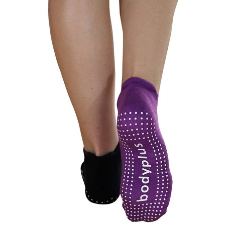 Pretmanns Pilates Yoga Grip Socks – Non Slip Sticky Barre Yoga Socks for Women – 2 Pairs Medium – Fit Shoe Size 7-9