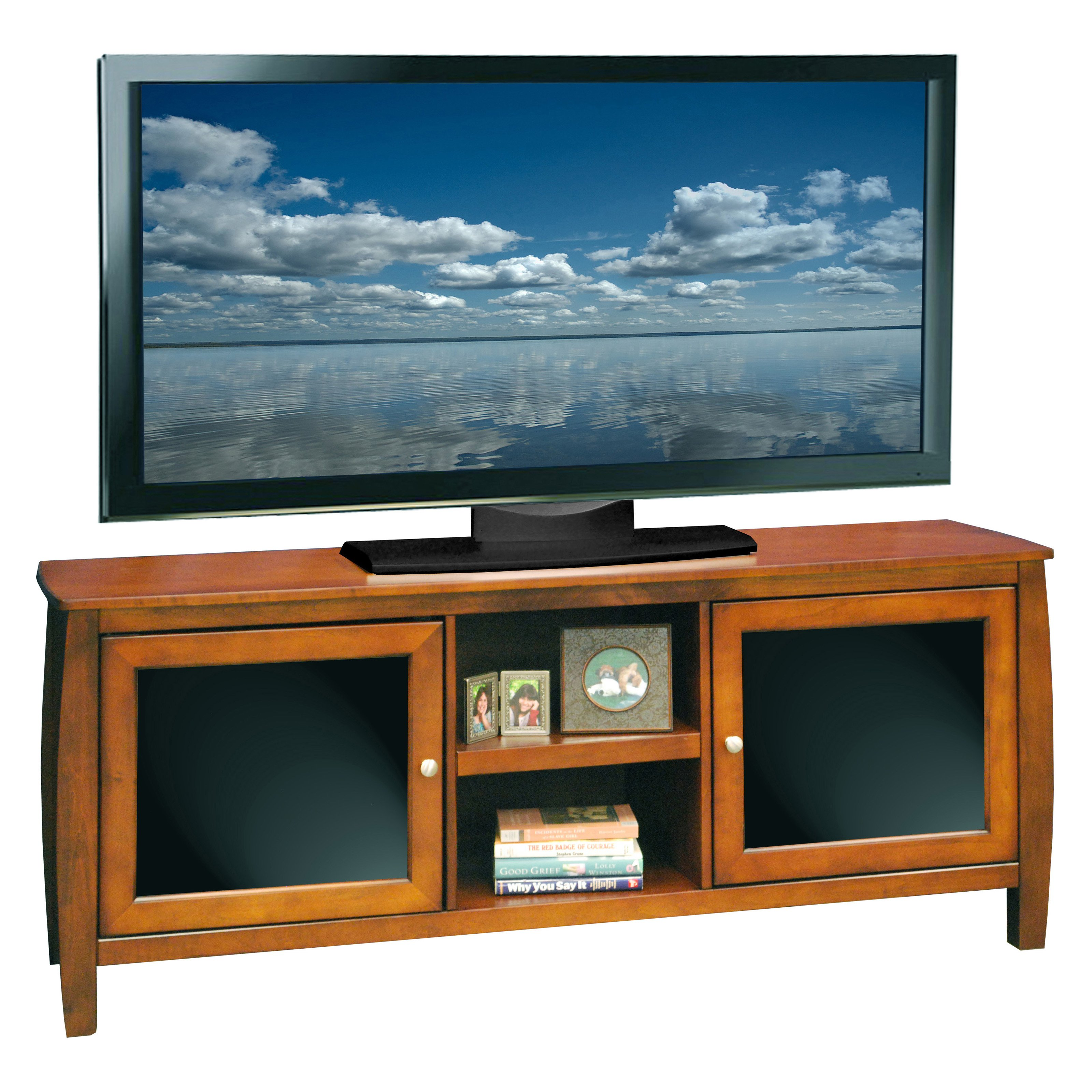 Legends Curve 60 in. TV Console - Spiced Rum