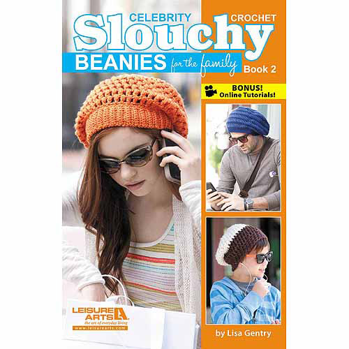 Leisure Arts Slouchy Beanies For The Family, Book 2, Crochet