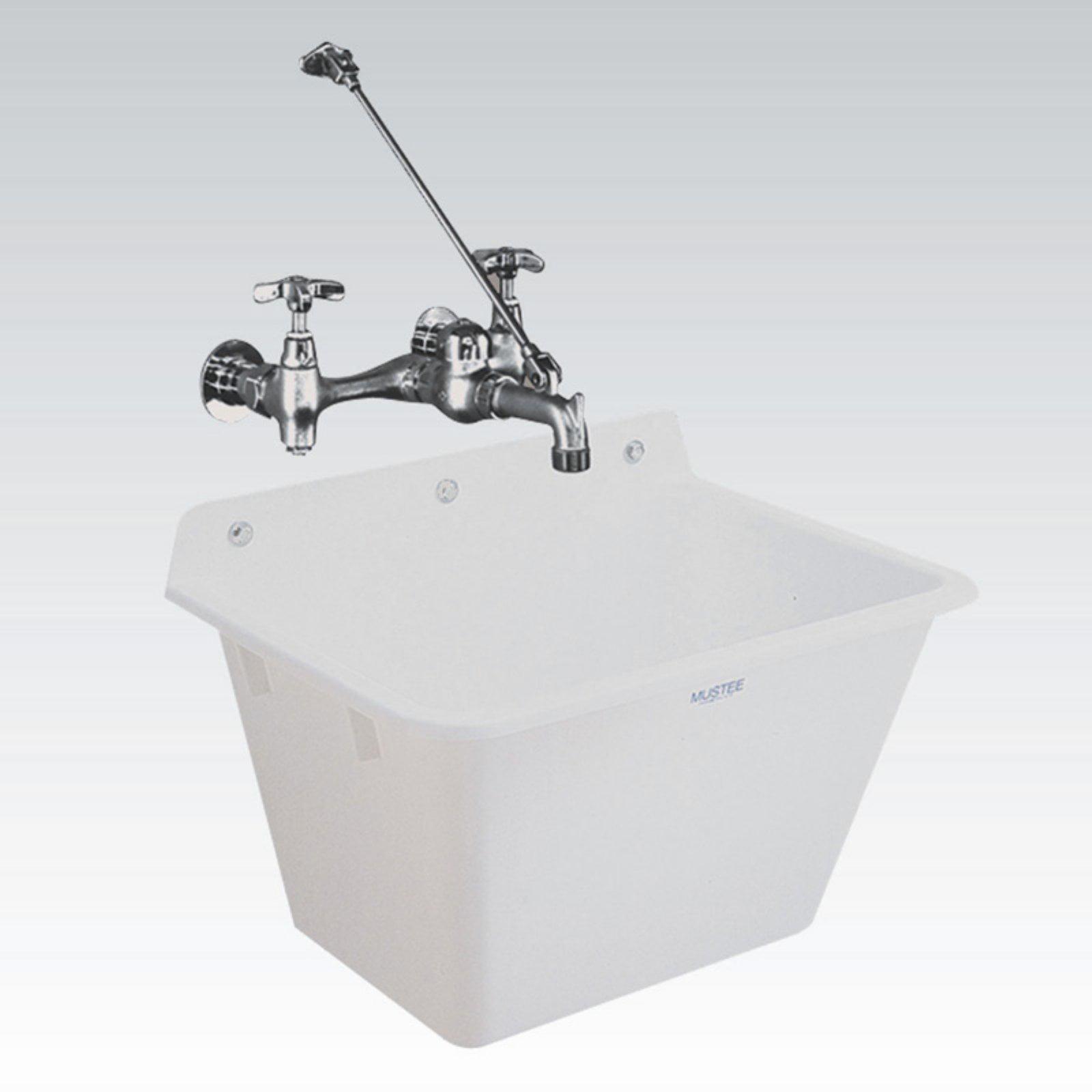 Mustee Utilatub 16 Single Basin Wall Mount Utility Sink