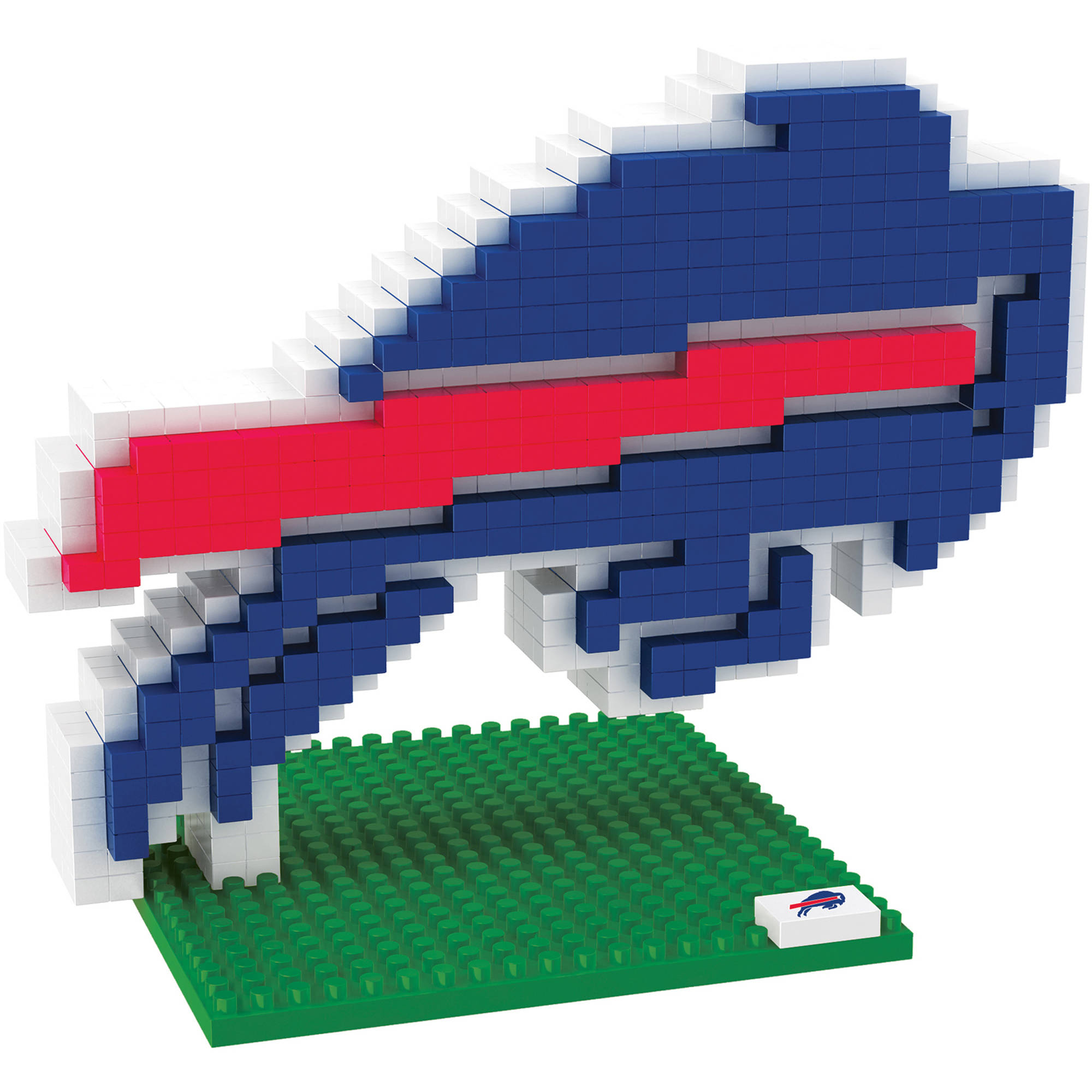 Forever Collectibles NFL 3D BRXLZ Logo Building Blocks, Buffalo Bills