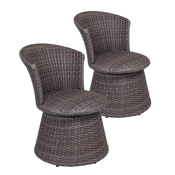 Wicker Swivel Stool Chair Indoor, Indoor White Wicker Furniture