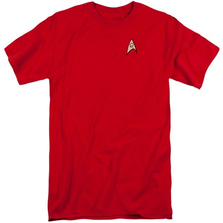 Star Trek TV Series Scotty Engineering Uniform Red Adult Tall Fit T-Shirt - Star Trek Womens Uniform