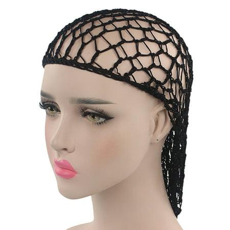 Women Hand Crochet Hair Breathable Net Woven Hair Net Hair Cap Night Cap (Beaded Hair Net)