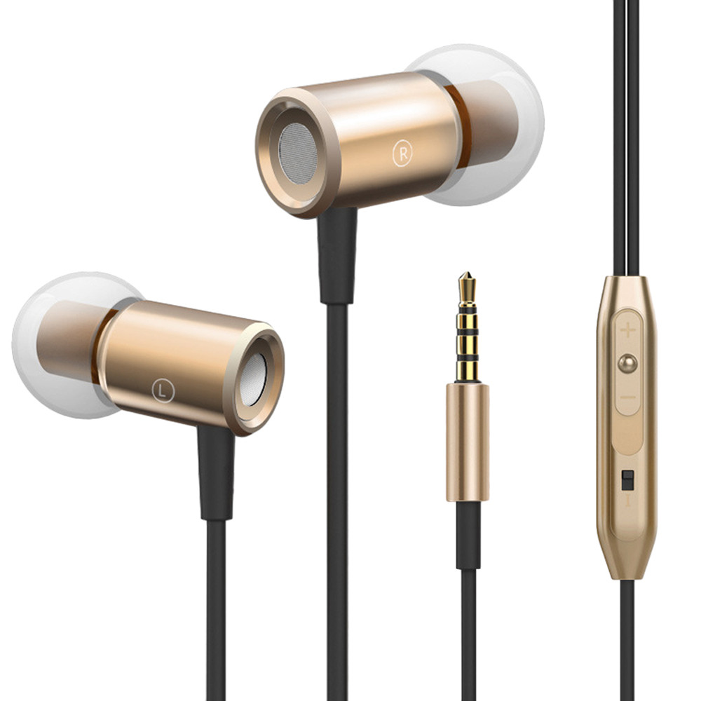 Hight Quality 3.5mm In ear Stereo Headphone Headset Super Bass Music Earphone Earbuds BK