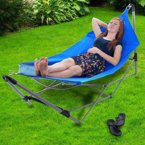 Stalwart Portable Hammock with Frame Stand and Carrying Bag by Trademark Global LLC