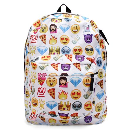 Cute Emoji Backpack School Book Backpack Shoulder Bag Schoolbag for Girls Boys