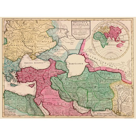 Old Middle East Map - Europe, Middle East - Del Isle 1712 - 23 x ...