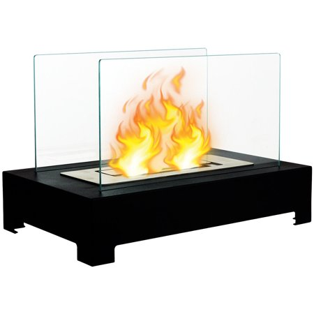 Gymax Tabletop Ventless Bio Ethanol Fireplace stainless steel Pedestal Portable