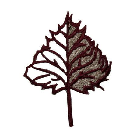 ID 7149 Cutout Oak Tree Leaf Patch Autumn Nature Embroidered Iron On Applique](Tree Cutouts)