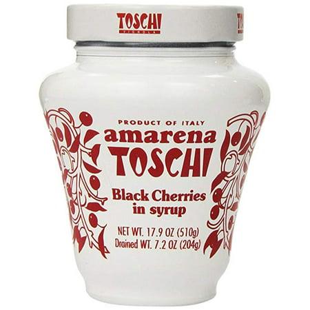 Amarena Toschi Italian Black Cherries in Syrup 17.9 Oz. (Pack of (Italian Cherries)