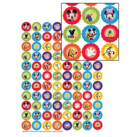 MICKEY MOUSE CLUBHOUSE GEARS MINI STICKERS - Mickey Stickers