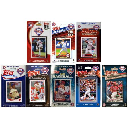 C & I Collectables PHILS818TS 2018 MLB Philadelphia Phillies 8 Different Licensed Trading Card Team Sets - image 1 of 1