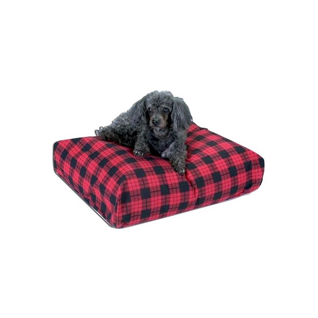 Snoozer Pet Dog Cat Puppy Soft Elastic Comfortable Rectangular Pillow Sleeping Bed Medium Olive