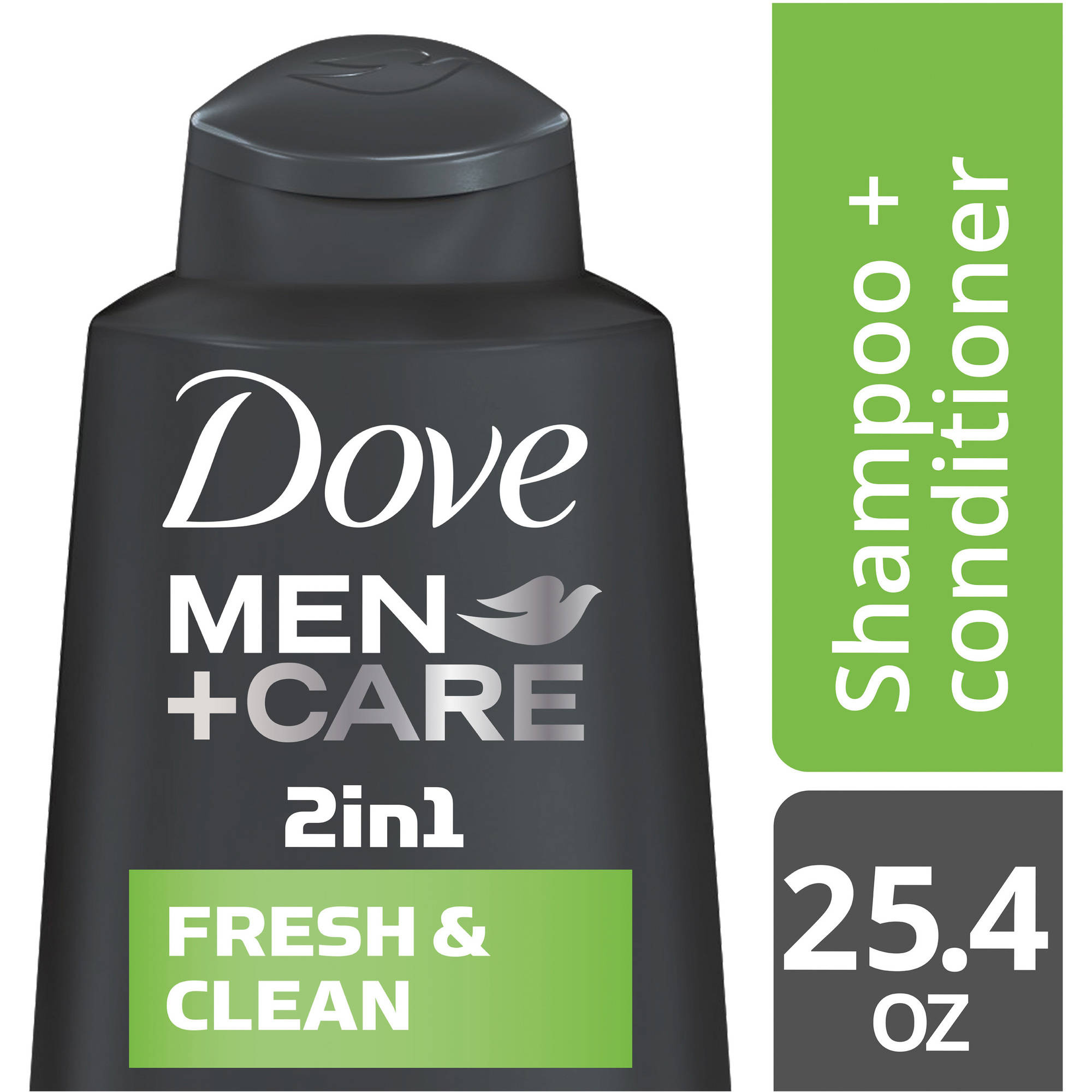 Dove Men+Care Fresh and Clean 2 in 1 Shampoo and Conditioner, 25.4 oz