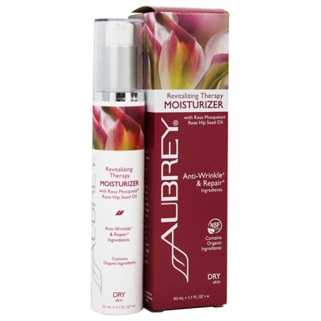 Aubrey Organics - Revitalizing Therapy Moisturizer with Rosa Mosqueta Rose Hip Seed Oil - 1.7 oz. (Formerly Rosa Mosqueta Moisturizing Cream)