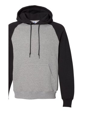 Russell Athletic Men's Dri Power Colorblock Raglan Hooded Pullover Sweatshirt, Style 693HBM