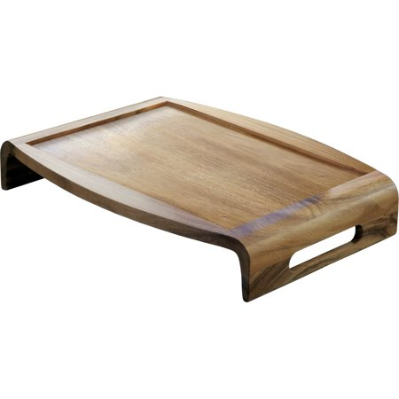Lipper Acacia Reversible Serving Tray - Serving Tray - Acacia Wood - Serving - 4 Piece(s) Carton
