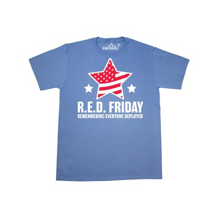 Red Friday Remembering Everyone Deployed with Red American Flag T-Shirt