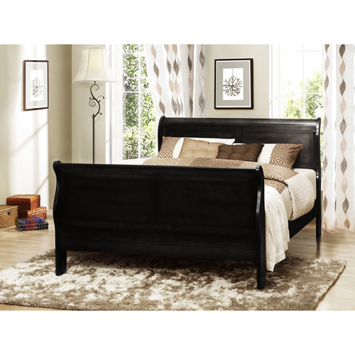 Louis Philippe Twin Bed, Black