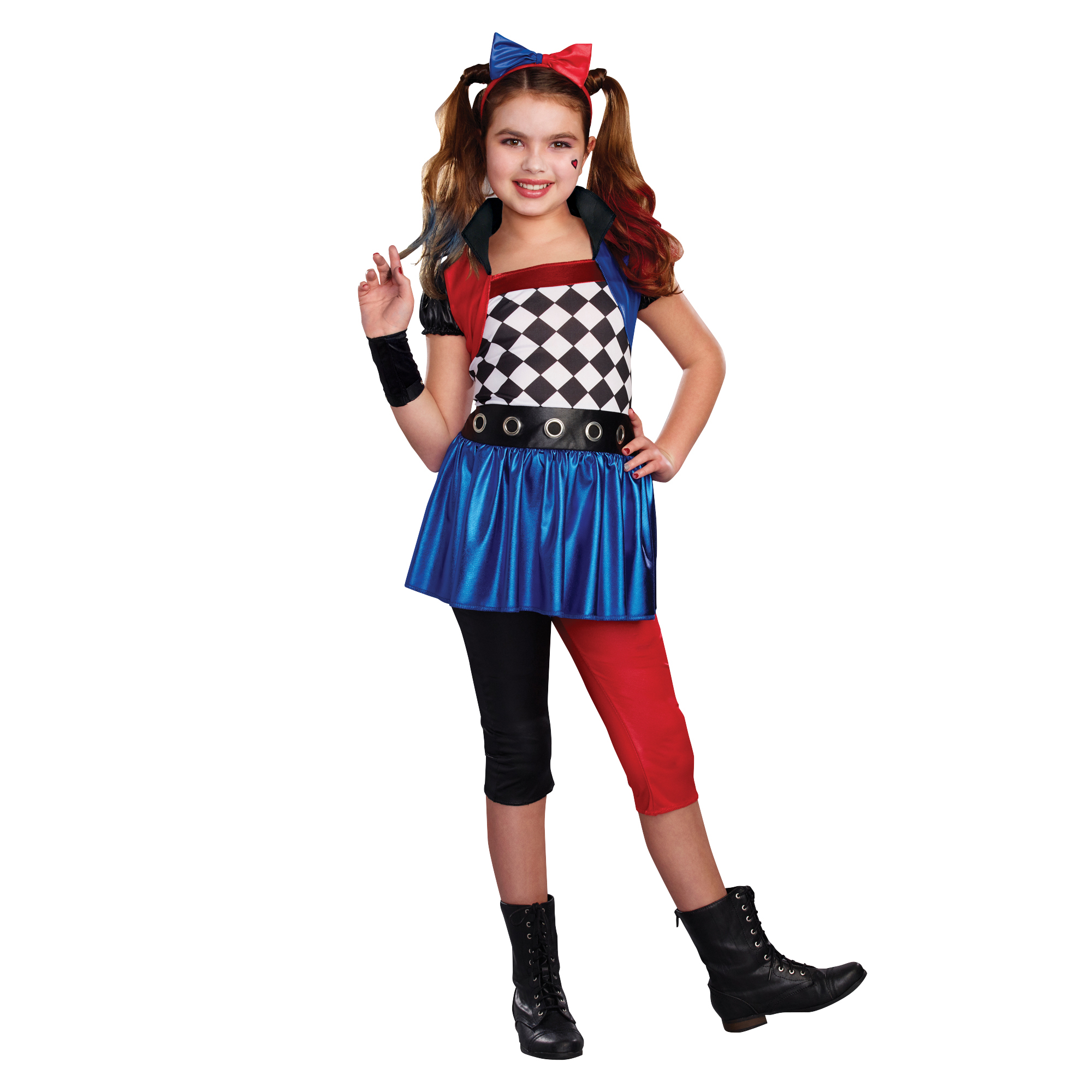 Girls Lil' Harlequin Halloween Costume