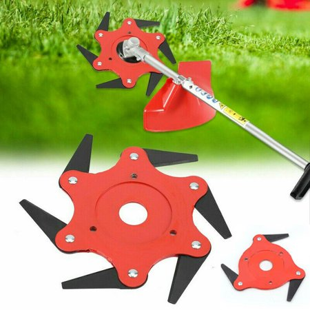 Lawn Mower Trimmer Grass Head Cutter 3/6 Steel Blades Razors Tooth 65Mn Lawn Mower Grass Weed Eater Brush Cutter Garden Lawn Tool Replacement Parts  3