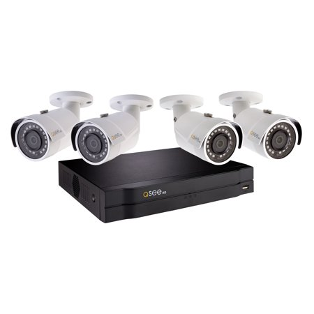 - Q-See 4Ch 1080P NVR Security Camera System with 4 1080P HD IP Bullet Security Cameras and 1TB HDD