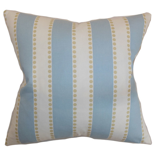 The Pillow Collection Odienne Stripe Cotton Throw Pillow