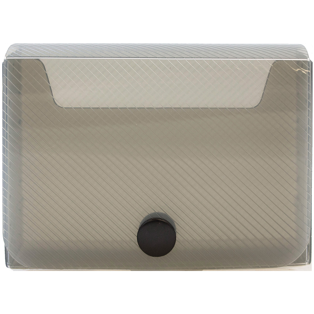 JAM Paper Large Business Card Holder, 2 1/4 x 3 3/4 x 1, Smoke, Sold Individually