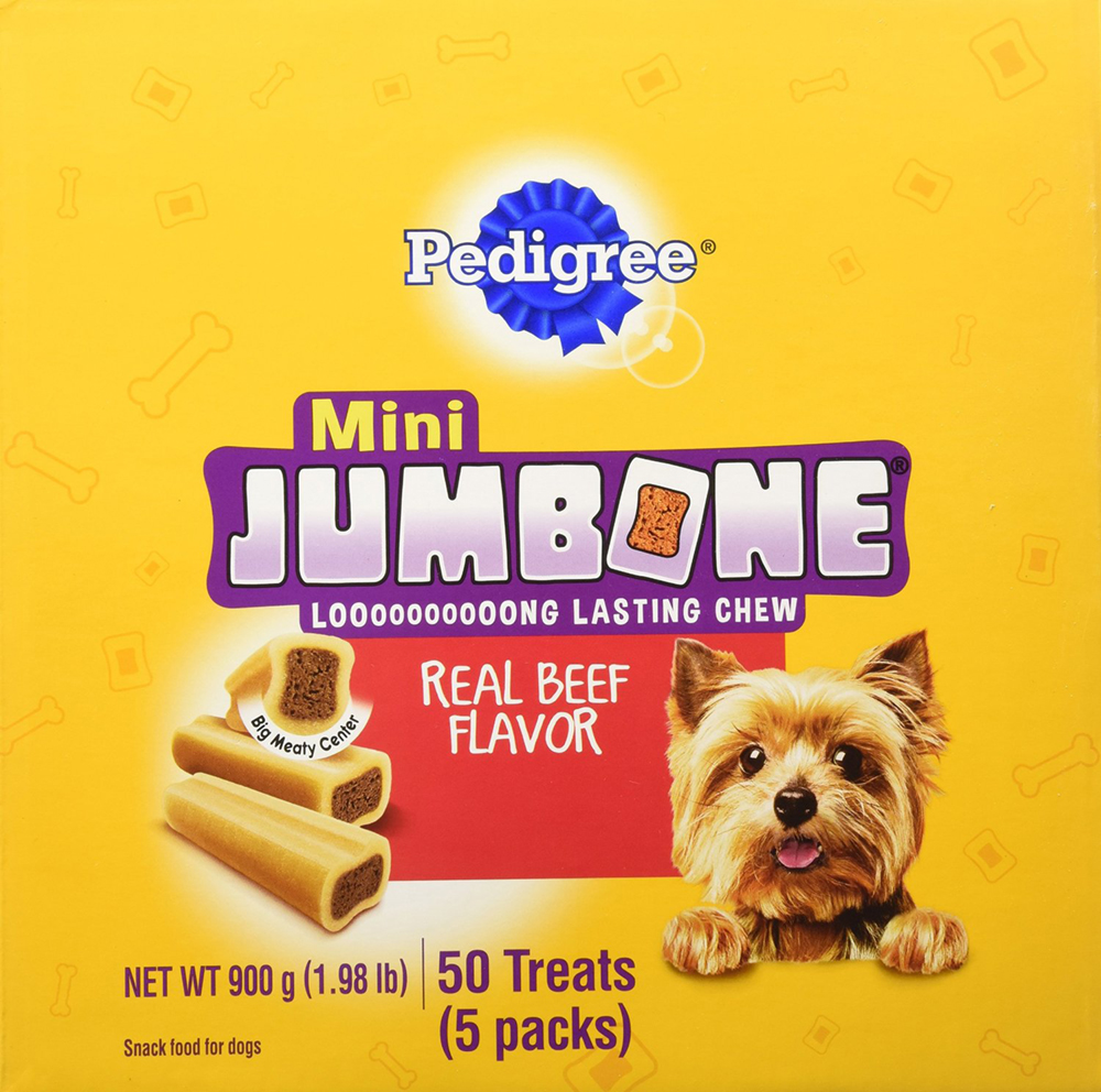 PEDIGREE JUMBONE Mini Bones Mini Snacks for Dogs 1.98 lbs. 50 Count