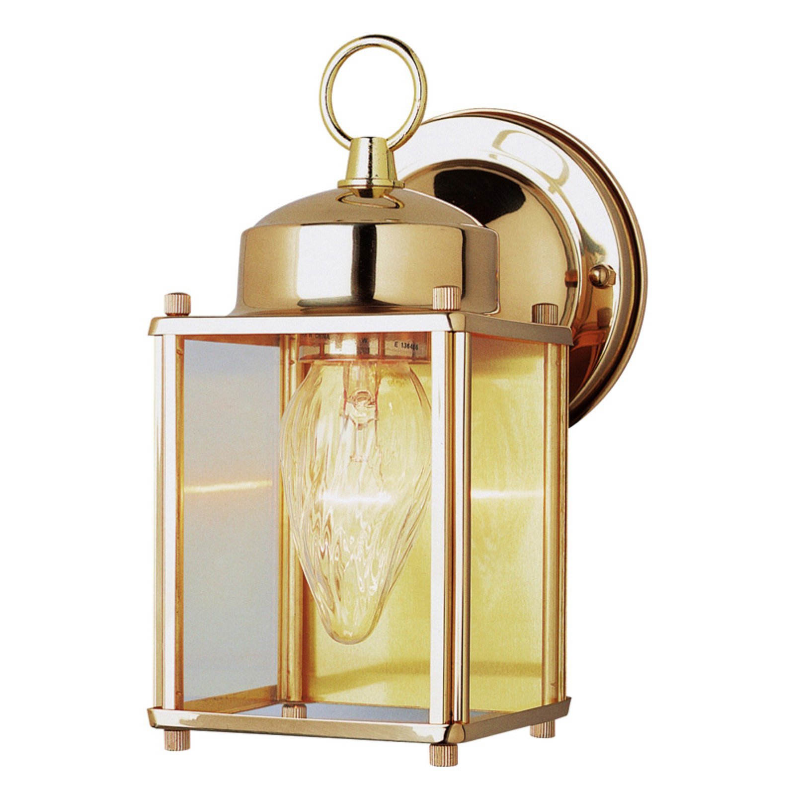 Trans Globe 4045 PB Coach Lantern - Polished Bass - 4W in.