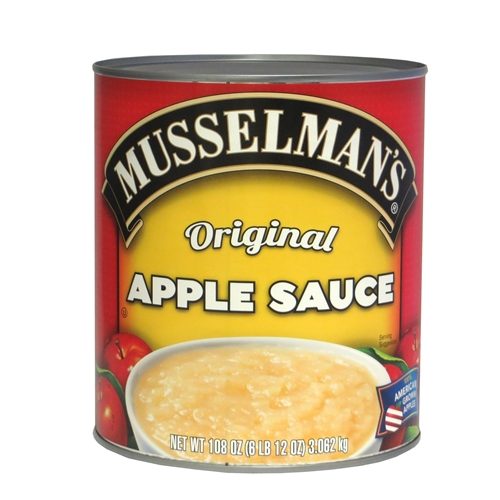 6 PACKS : Knouse Foods Musselmans Premium Sweetened Apple sauce, 108 Ounce