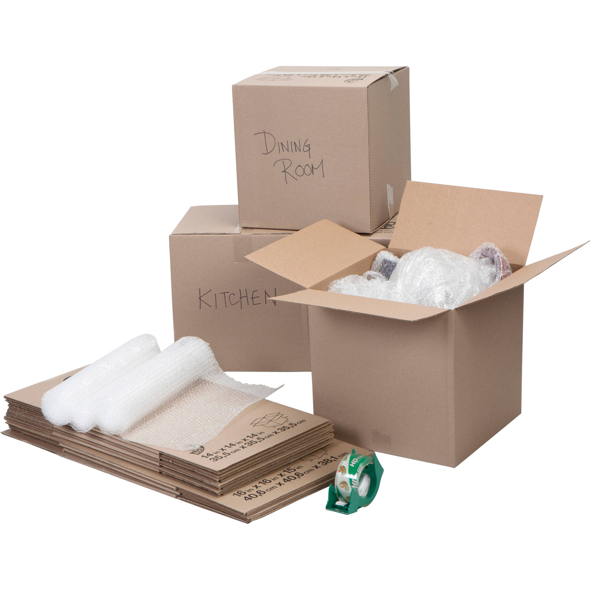 Duck Brand Moving Kit includes Bubble Wrap, Boxes and Packing Tape