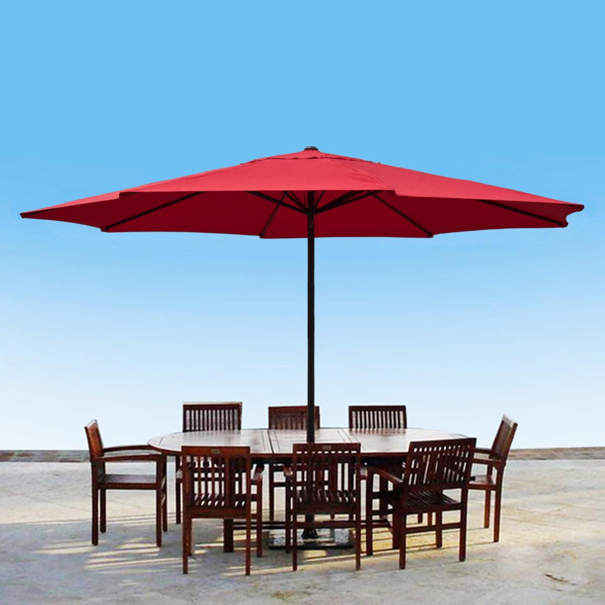 Apontus 13 Foot Market Patio Umbrella Outdoor Furniture Aluminum Walmart Com