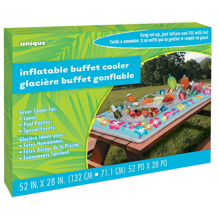 Summer Party Inflatable Buffet Cooler, 52 x 28 in, 1 ct