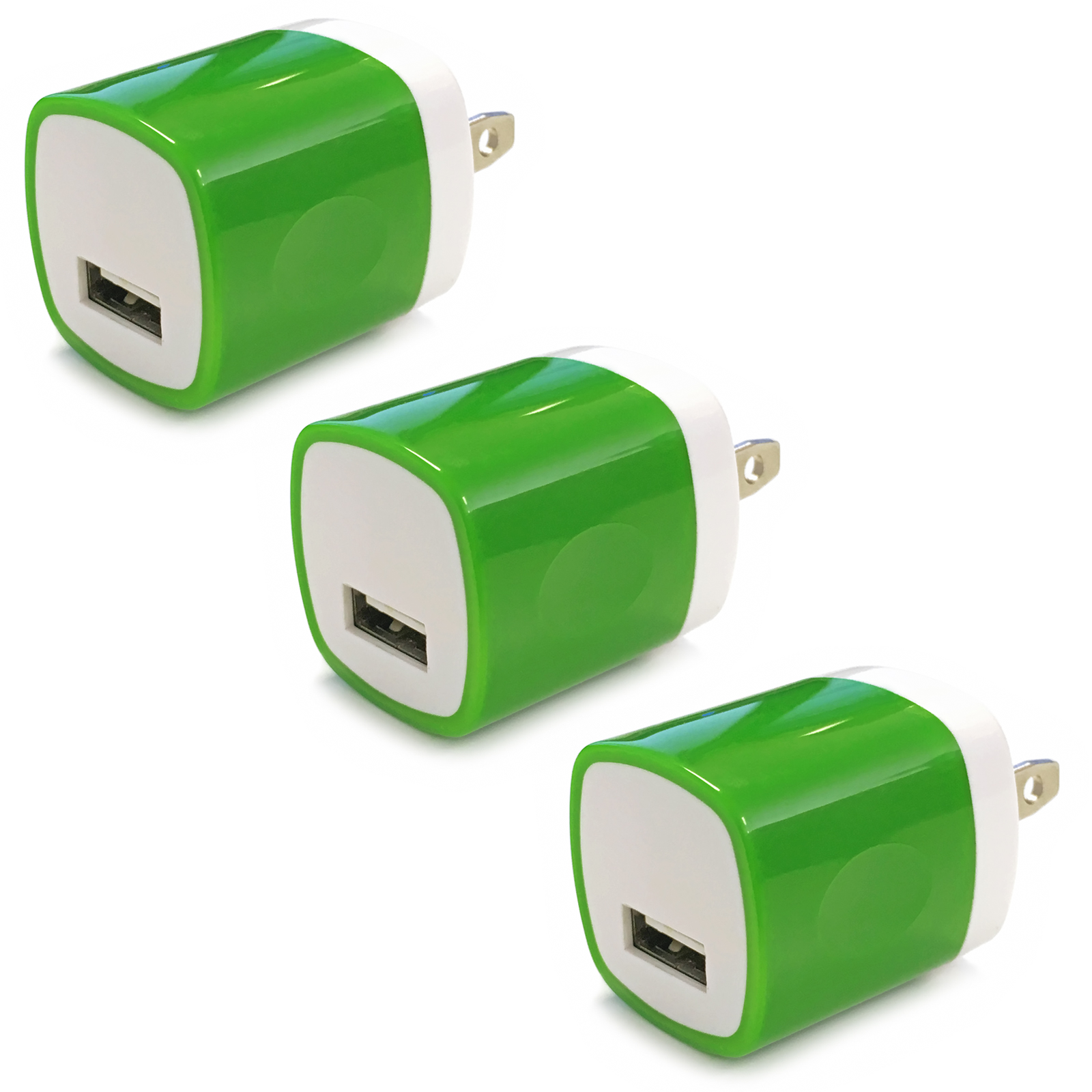 3x USB Wall Charger, Charger Adapter, FREEDOMTECH 1Amp Single Port Quick Charger Plug Cube for iPhone 7/6S/6S Plus/6 Plus/6/5S/5, Samsung Galaxy S7/S6/S5 Edge, LG, HTC, Huawei, Moto, Kindle and More