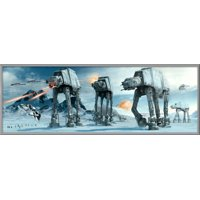 """Star Wars: Episode V - The Empire Strikes Back - Door Movie Poster / Print (The Battle of Hoth - AT-AT Attack) (Size: 62"""" x 21"""")"""